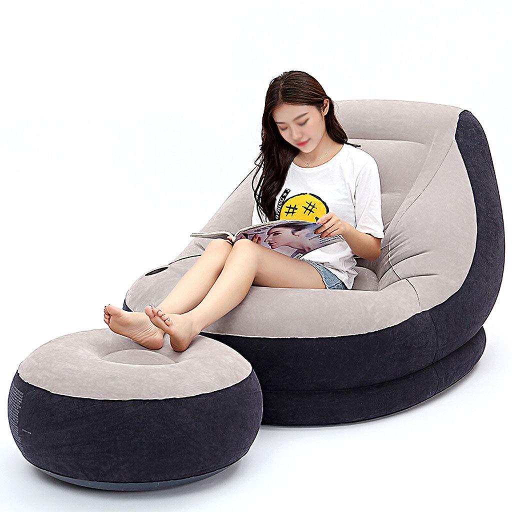 ZLL-Matelas pneumatique Chaise de déjeuner Simple Chaise de Sofa Gonflable Simple de Chaise de déjeuner Canapé + Chaise de Pied 130x99x76cm  -