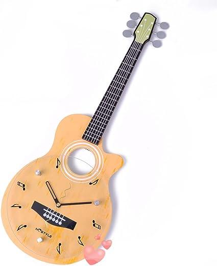 reloj de pared Guitarra Forma Habitación para niños Creativo Reloj ...