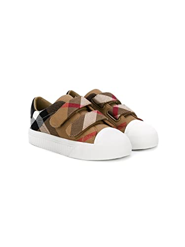 2363cd2570b4 BURBERRY Boy Check Cotton Canvas Sneakers Mod. 406507010700K 30 ...