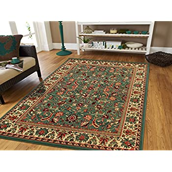 Amazon Com Persian Rugs For Living Room 5x8 Green Area
