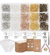 EuTengHao Earring Hooks for Jewelry Making, 2206Pcs Earring Making Supplies Kit with Fish Earring...