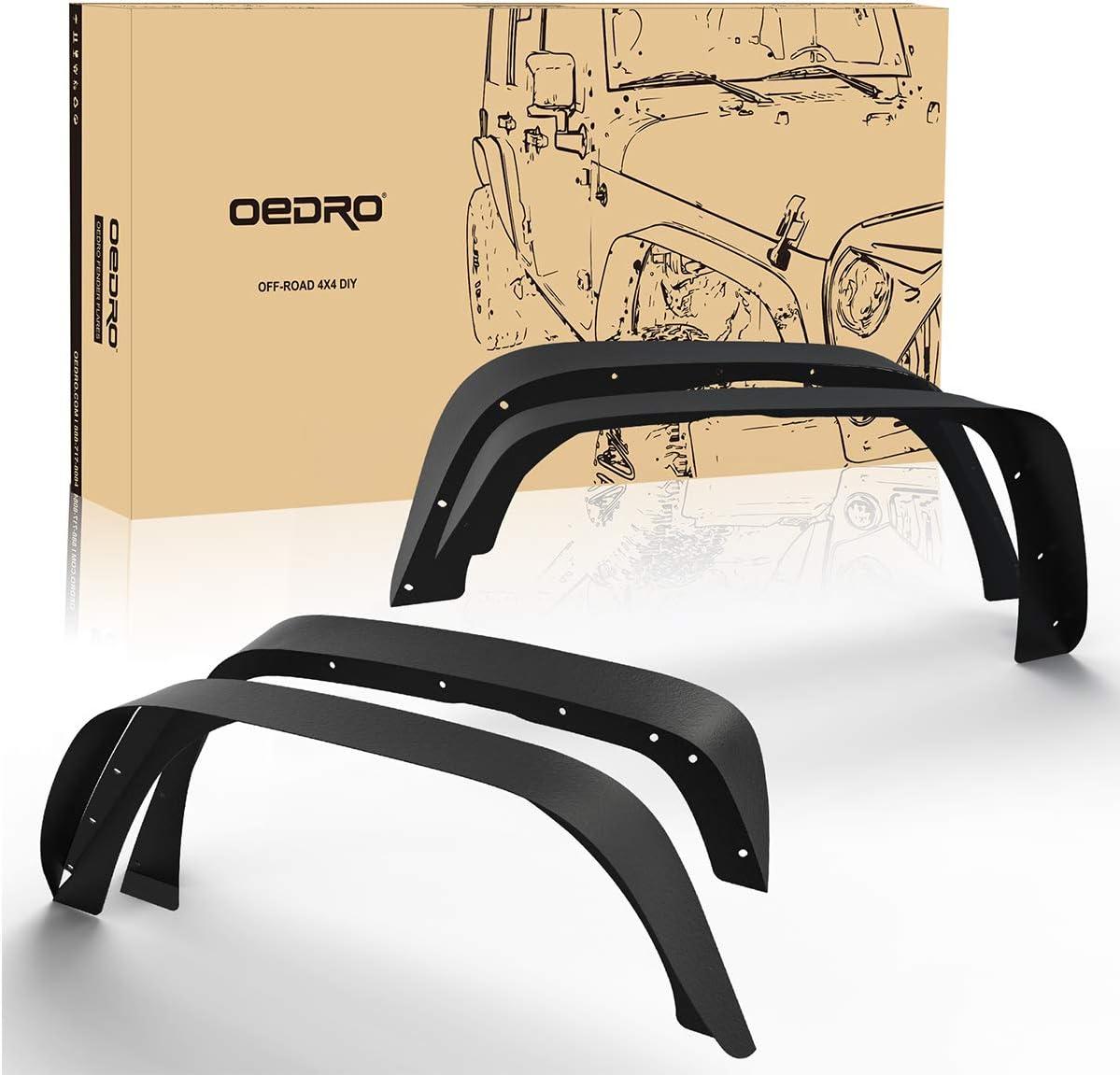 For 2007-2018 Jeep Wrangler JK 2//4 Door New Black Textured Steel Fender Flares