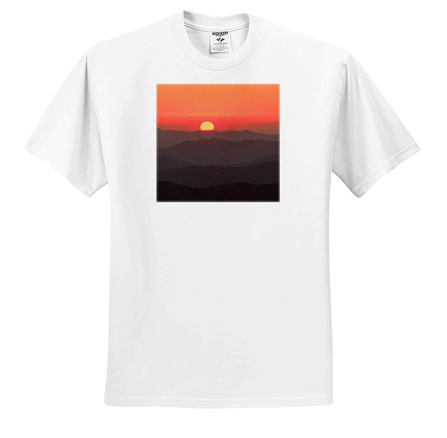 USA 3dRose Danita Delimont Tennessee Sunset Great Smoky Mountain National Park Sunsets ts/_315024 - Adult T-Shirt XL
