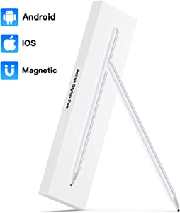 Stylus Pen for Touch Screens,Magnetic Design Active Tablet Stylus for Drawing and Handwriting,Universal Pencil Fine Point Digital Pens for iPhone iPad and Other Tablets
