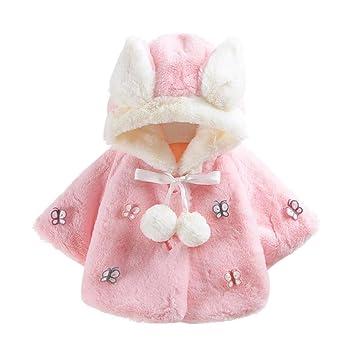 5fc86e933 Amazon.com  FEITONG Baby Infant Girls Boys Autumn Winter Hooded Coat ...