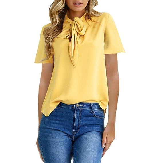 Damark(TM) Ropa Camisetas Mujer, Camisas Mujer Verano Elegantes Casual Tallas Grandes Deporte Algodon Camisetas Mujer Manga Corta Camiseta Blusas Tops ...