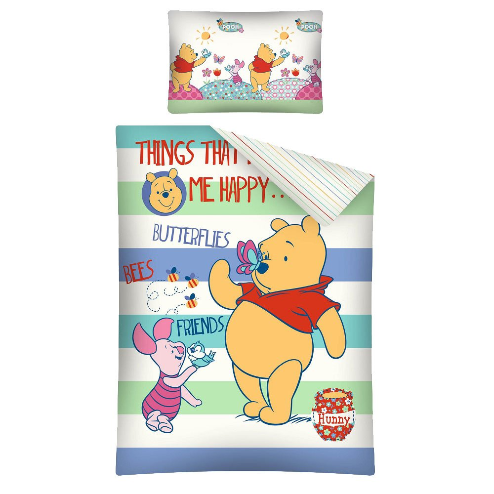 Winnie the Pooh Friends Baby Bedlinen Set 100x 135cm/40x 60cm Green/Blue DP WTP19C1001354060