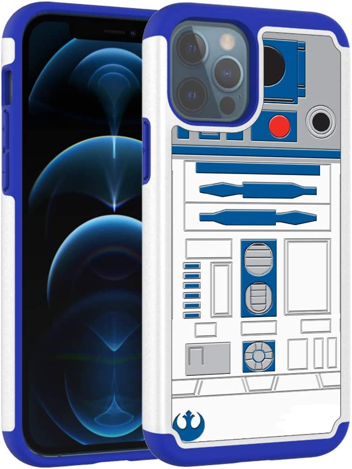 iPhone 12 Case, iphone12 Pro Cover, R2D2 Astromech Droid Robot Pattern Shock-Absorption Hard PC and Inner Silicone Hybrid Dual Layer Armor Defender Case for Apple iPhone 12/12 Pro (6.1 inch) 2020