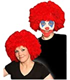 Childrens Kids Boys Girls Red Curly Afro Wig Clown Halloween Fancy Dress
