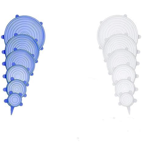 Amazon.com: Tapas elásticas de silicona, reutilizables ...