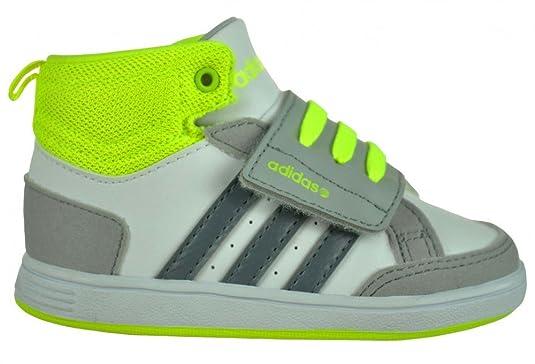 Adidas Hoops CMF MID INF Bambino Bebè sneaker scarpe Bianco, Dimensione:EU/25 - UK/7.5k - /US/8k - CM/14.5