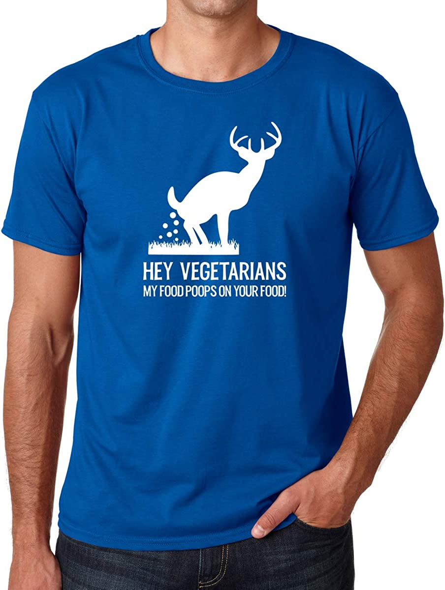 CBTwear Hey Vegetarians My Food Poops on Your Food - Sarcastic Humor - Men's T-Shirt