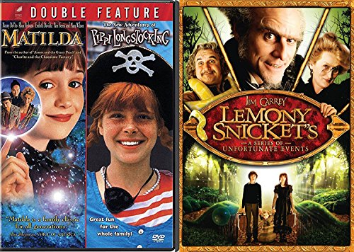 Lemony Snicket's A Series Of Unfortunate Events DVD Set & Matilda & Pippi Longstocking Girls Set