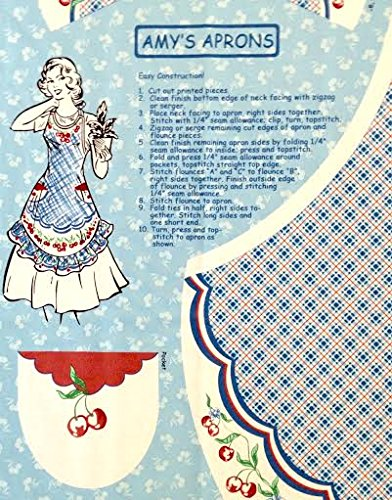 Easy Cut and Sew Adorable Apron Kit - Retro Style