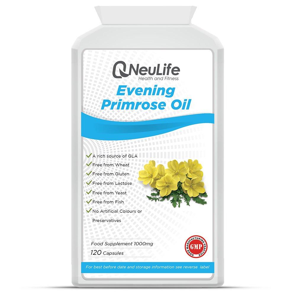 Aceite de Onagra 1000mg - 120 Cápsulas - Neulife Salud y Fitness: Amazon.es: Salud y cuidado personal