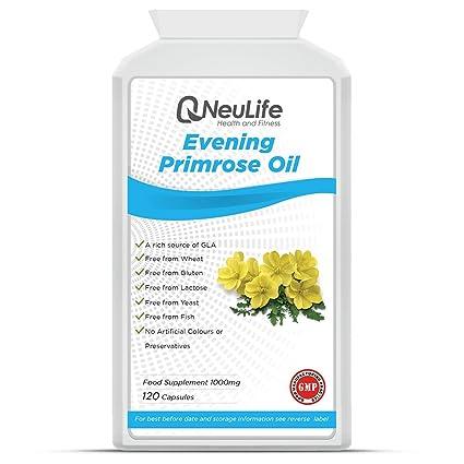 Aceite de Onagra 1000mg - 120 Cápsulas - Neulife Salud y Fitness
