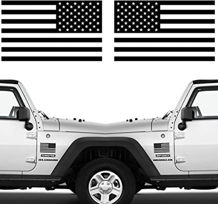 or Jeep Vinyl Decal for Car American Flag Decal Set Truck