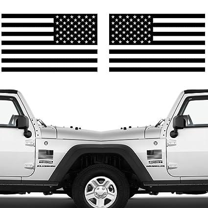 Die cut subdued matte black american flag sticker 3 x 5 tactical military flag