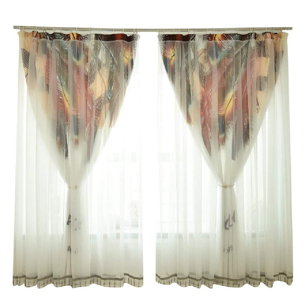 プリンセスカーテン2層不透明、2パネルレースガールプリントレース糸遮光カーテン寝室用リビングルーム (サイズ さいず : 350*268cm) 350*268cm  B07PZS58GL