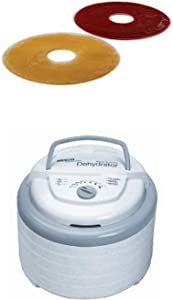 Nesco LSS-2-6 Fruit Roll Sheets and Snackmaster Pro Food Dehydrator Bundle