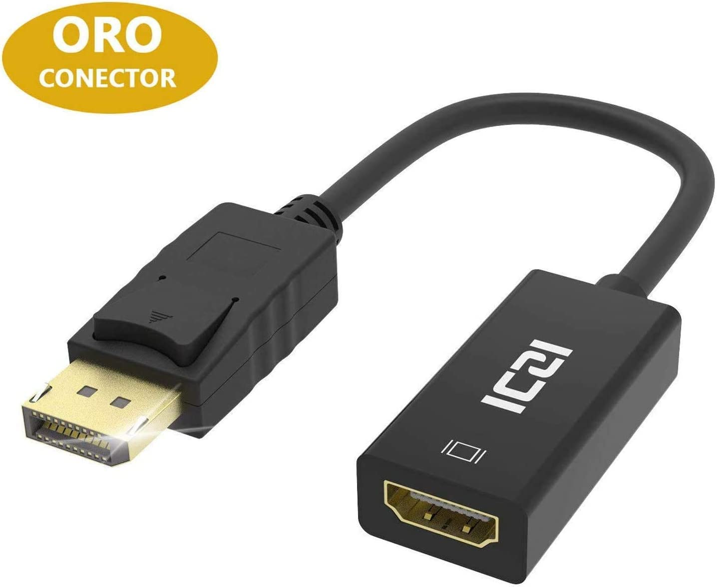 DisplayPort to HDMI, ICZI 4K DP to HDMI Adapter for GTX 750 Ti/970/1060/1070, Lenovo W510/T520/X201T, Thinkpad Pro Dock and More - Black