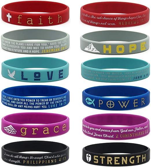 Faith Love Joy Peace Silicone Bracelet Hope