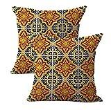 set of 2 talavera Mexican Spanish cushion cover wholesale throw pillows