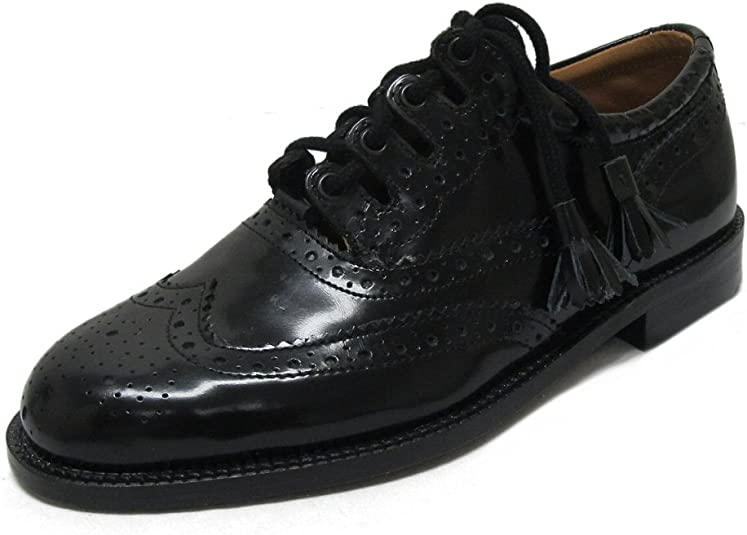 TALLA 40.5 EU. Thistle - Zapatos de cordones de cuero para hombre negro negro