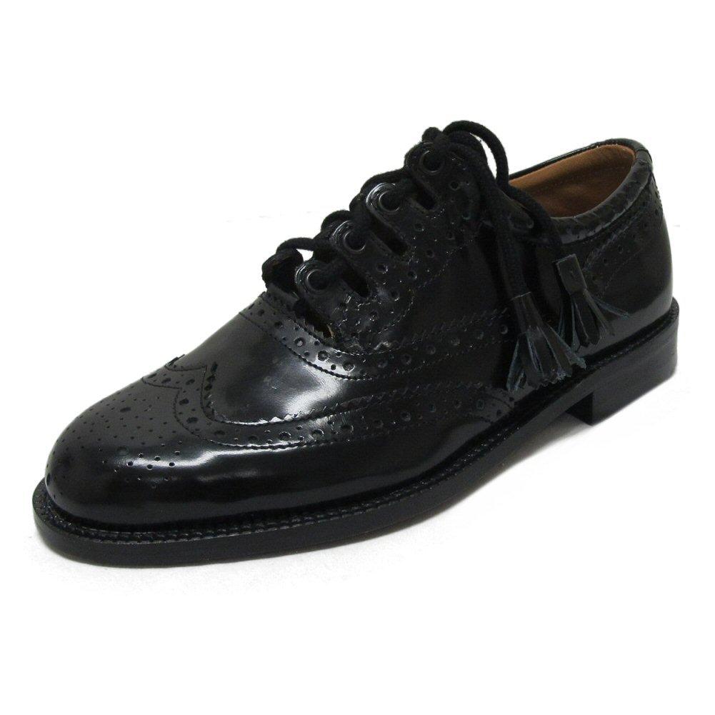 TALLA 45 EU. Thistle - Zapatos de cordones de cuero para hombre negro negro
