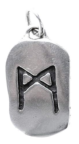 runas colgante madhr de 925 plata de ley nº 312: Amazon.es ...