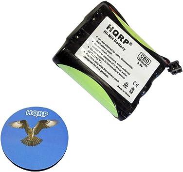 HQRP Batería para Panasonic KX-TC1703 / KX-TC1703B / KX-TC1710 / KX-TC1710B Teléfono inalámbrico + HQRP Posavasos: Amazon.es: Electrónica