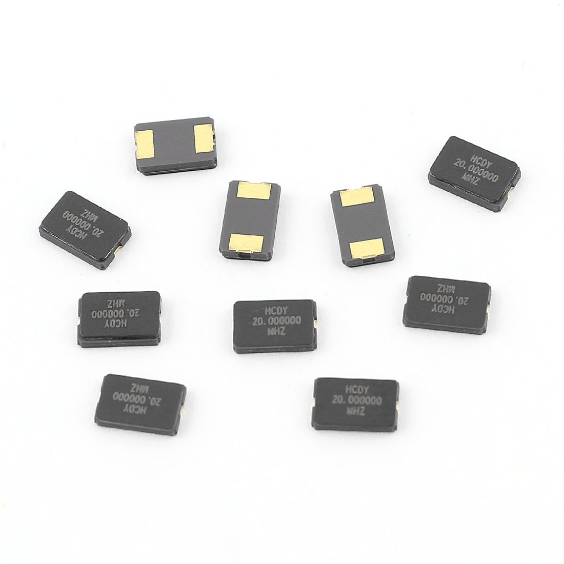 Aexit 10 Pcs Passive Components 20MHz 20.000Hz SMD 2Pin Passive Crystal Crystals Oscillator 5032