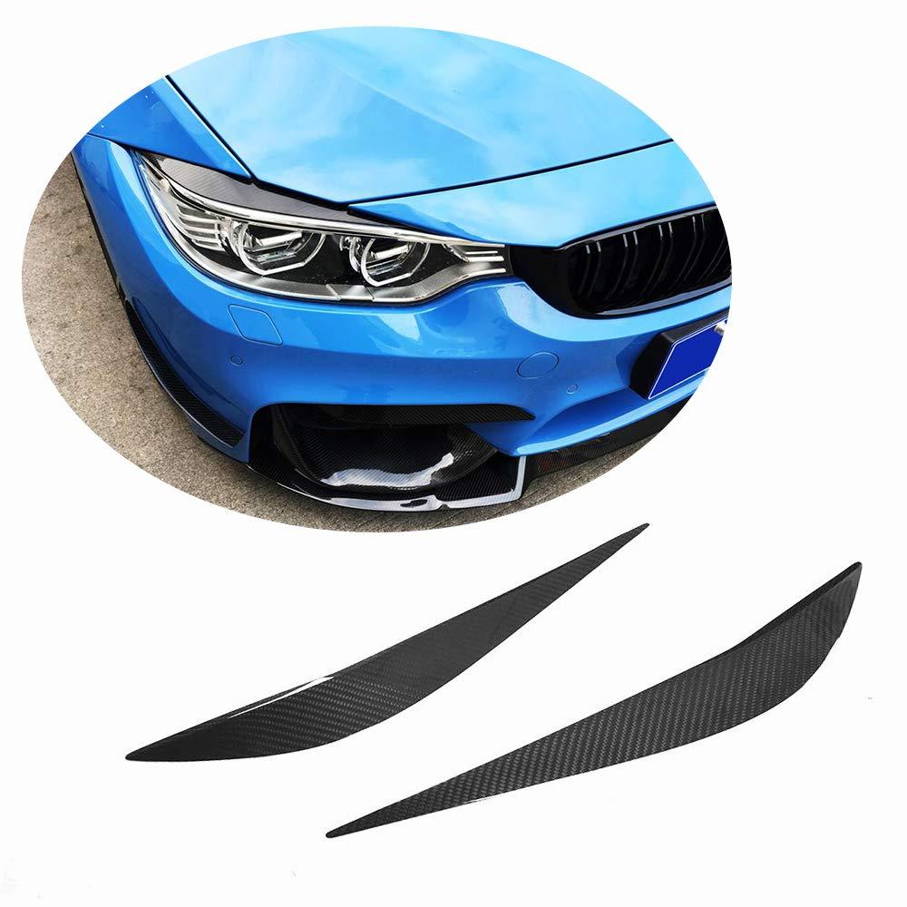 MCARCAR KIT Front Lamp Eyelids fits BMW F80 M3 F82 F83 M4 F32 F33 F36 2014-2018 Real Dry Carbon Fiber Headlight Eyebrows Cover Trims XF-BMW/M3M4F32F33F36-Headlight Eyebrows