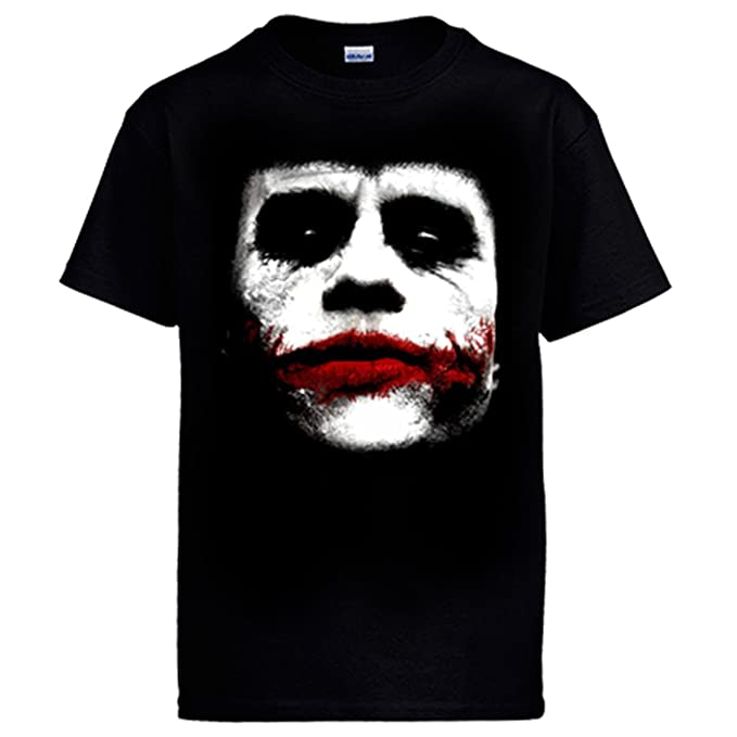 Camiseta Batman The Dark Knight rostro de El Joker - Negro, 12-14 años: Amazon.es: Ropa y accesorios