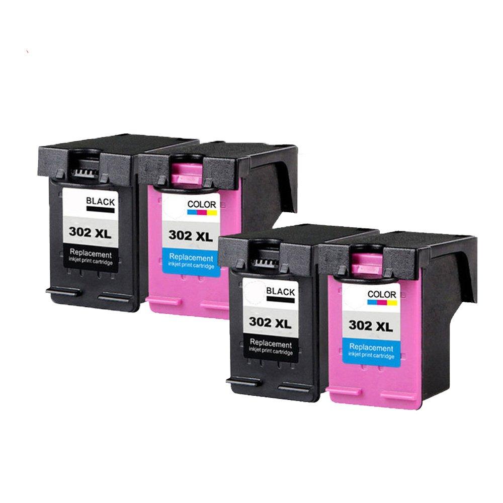 Ouguan® - Cartuchos de Tinta remanufacturados HP 302 XL para ...