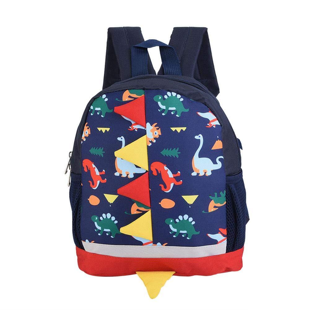 Dinosaur Shoulder Schoolbag Backpack Pattern Baby Comfortable Cute Cartoon for Babies Kid Child(Dark Blue) by Mumusuki