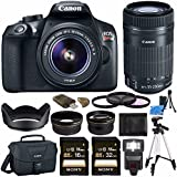 Canon EOS Rebel T6 DSLR Camera with 18-55mm Lens + Canon EF-S 55-250mm f/4-5.6 IS STM Lens + Sony 16GB SDHC Card + Sony 32GB SDHC Card + Card Reader + Canon EOS Shoulder Bag 100ES + Tripod Bundle