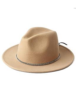 LJJ Hats Women's Felt Hat Chapeu Feminino Fedora Hat with Wide Brim Jazz Church Cap Caps (Color : 3, Size : 57-58cm)