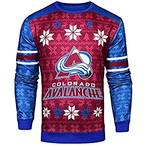 Forever Collectibles NHL Men's Printed Ugly Sweater – Colorado Avalanche