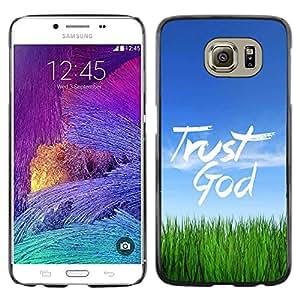 Paccase / SLIM PC / Aliminium Casa Carcasa Funda Case Cover para - BIBLE Trust God - Samsung Galaxy S6 SM-G920