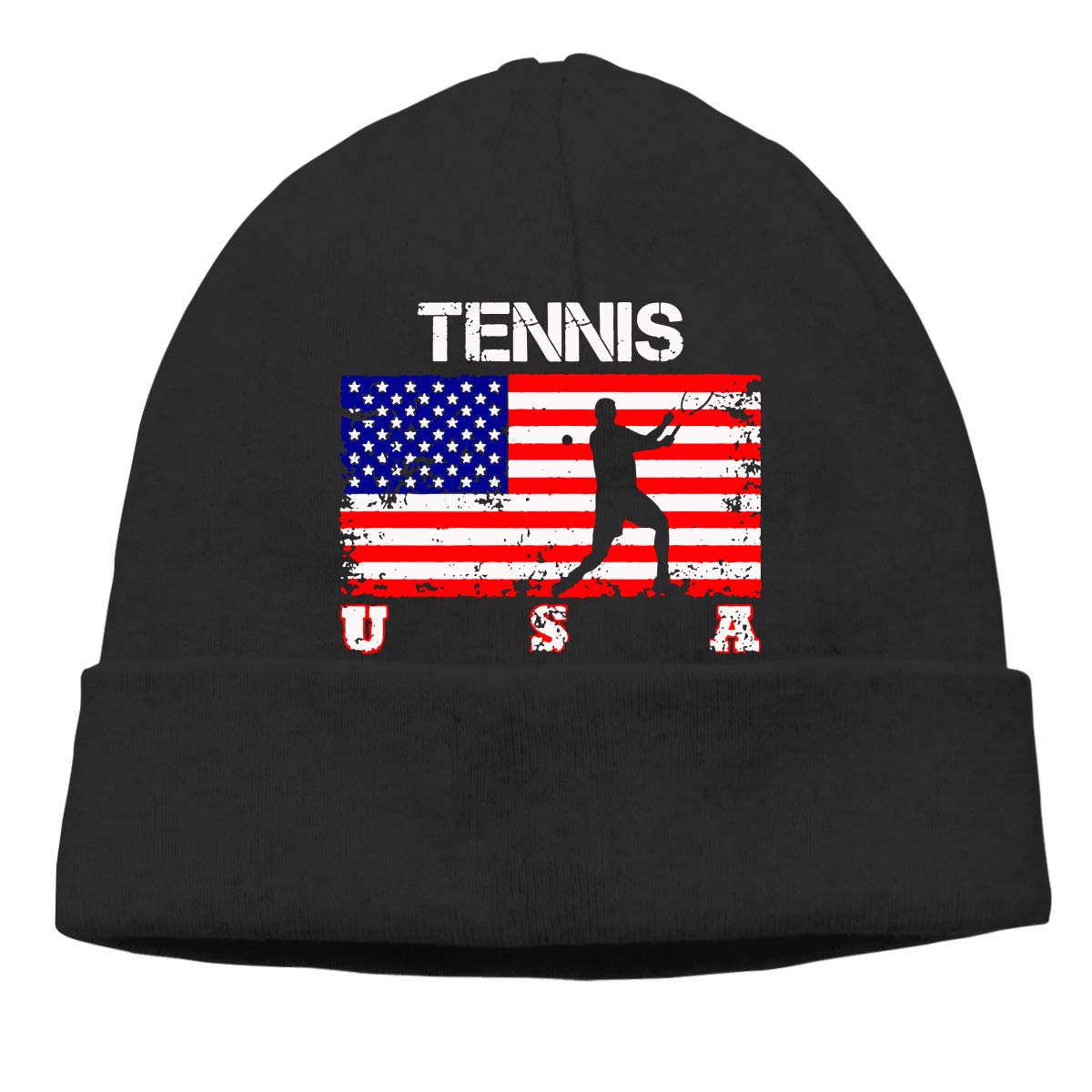 GDSG5/&4 American Flag Tennis Men /& Women Knitting Wool Warm Cycling Beanie Cap