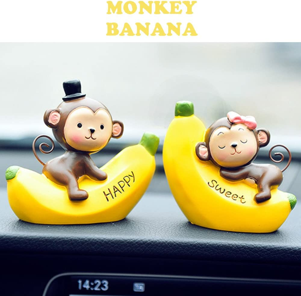 INEBIZ Creative Cute Monkeys Love Dashboard Decorations Car Home Office Ornaments