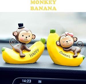 INEBIZ Creative Cute Monkeys Love Dashboard Decorations Car Home Office Ornaments