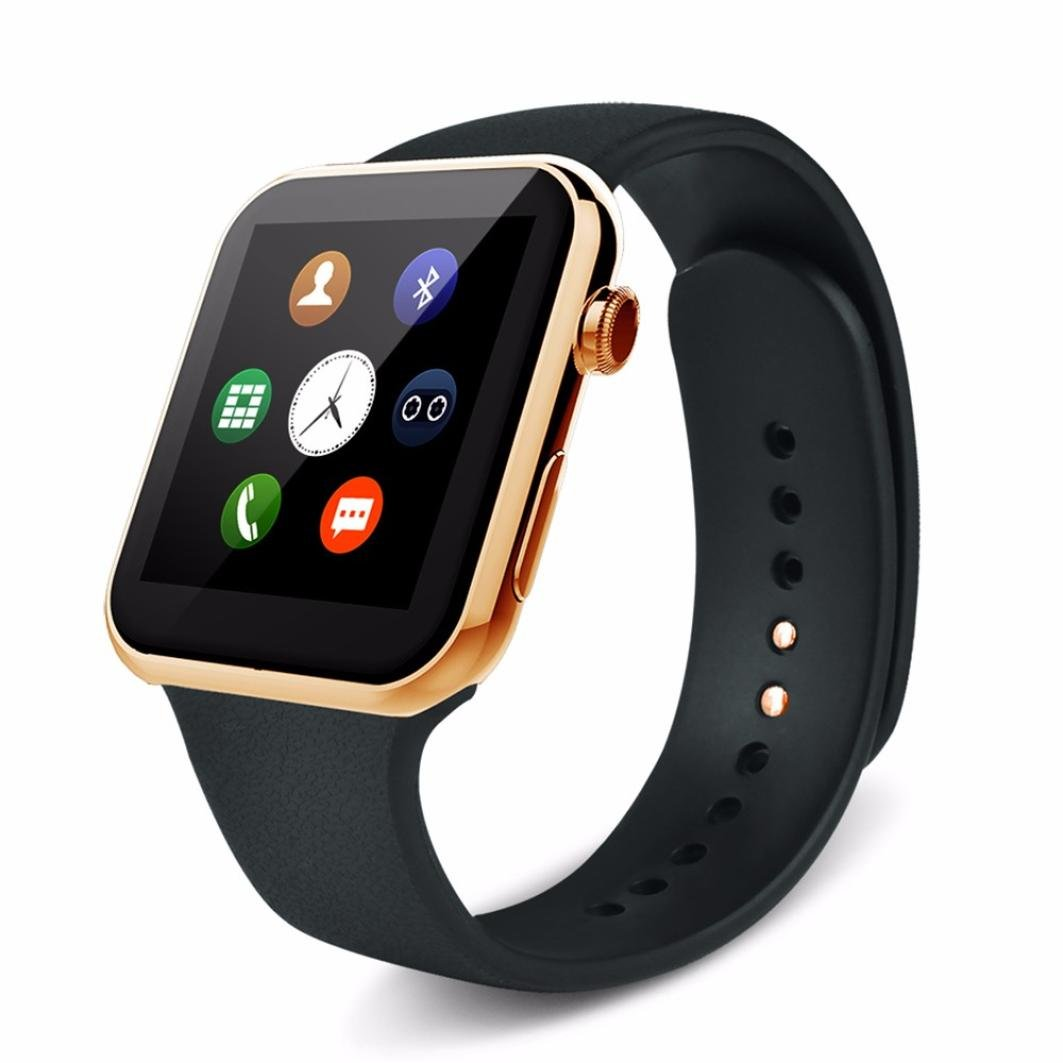 Naladoo A9 Bluetooth Smart Watch With Heart Rate Monitor For Android 4.2 And IOS (Gold) by Naladoo