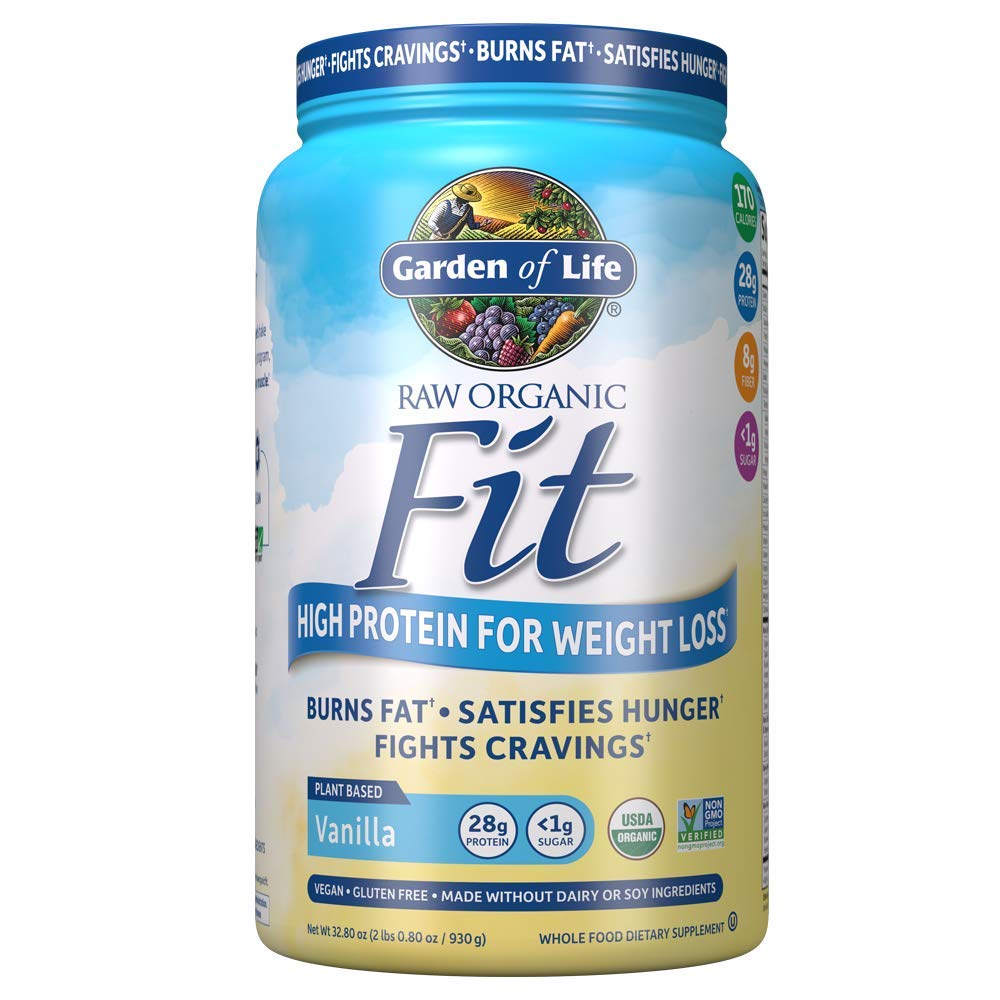 Garden of Life Organic Meal Replacement - Raw Organic Fit Powder, Vanilla - High Protein for Weight Loss (28g) Plus Fiber, Probiotics & Svetol, Organic & Non-GMO Vegan Nutritional Shake, 20 Servings by Garden of Life