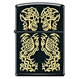 Facing Skull Body Black Matte Custom Zippo Windproof Collectible Lighter. Made in USA Limited Edition & Rare