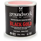Groundwork Coffee, Organic Black Gold, Whole Bean, 16-Ounce Cans (Pack of 2)