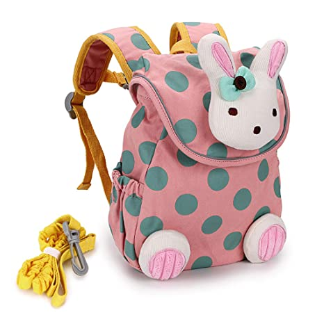 BTSKY Cute Bunny Anti-Lost Kids Backpack with Harness -Toddler Child Kid  Walking Safety 0ea7b85590075