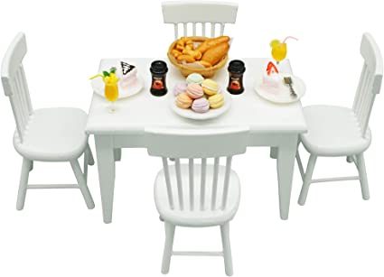 1//12 Scale Dollhouse Miniature Mini Dining Table and Chairs Sets Furniture