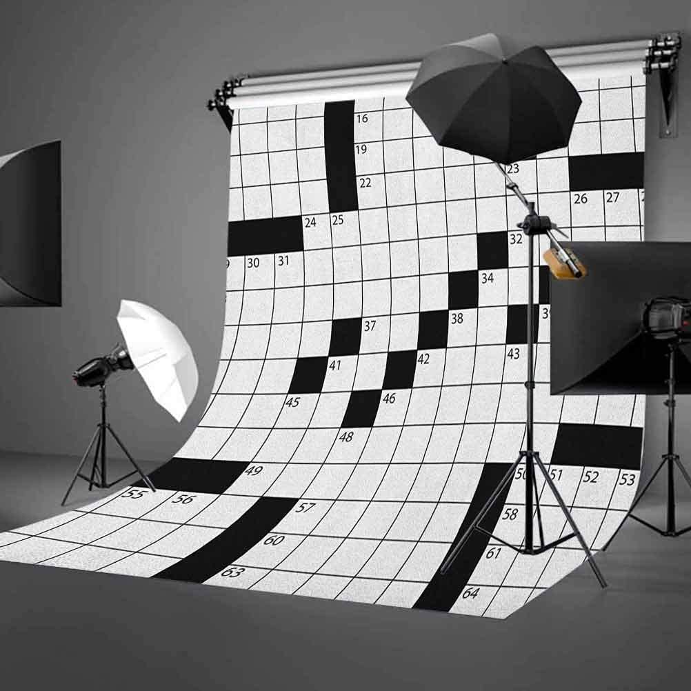 7x10 FT Black and White Vinyl Photography Background Backdrops,Triangles with Chevron Zigzag Bullseye Circles and Stripes Monochrome Background for Selfie Birthday Party Pictures Photo Booth Shoot